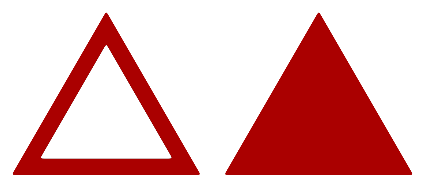 Red triangle png. Sign model stock by