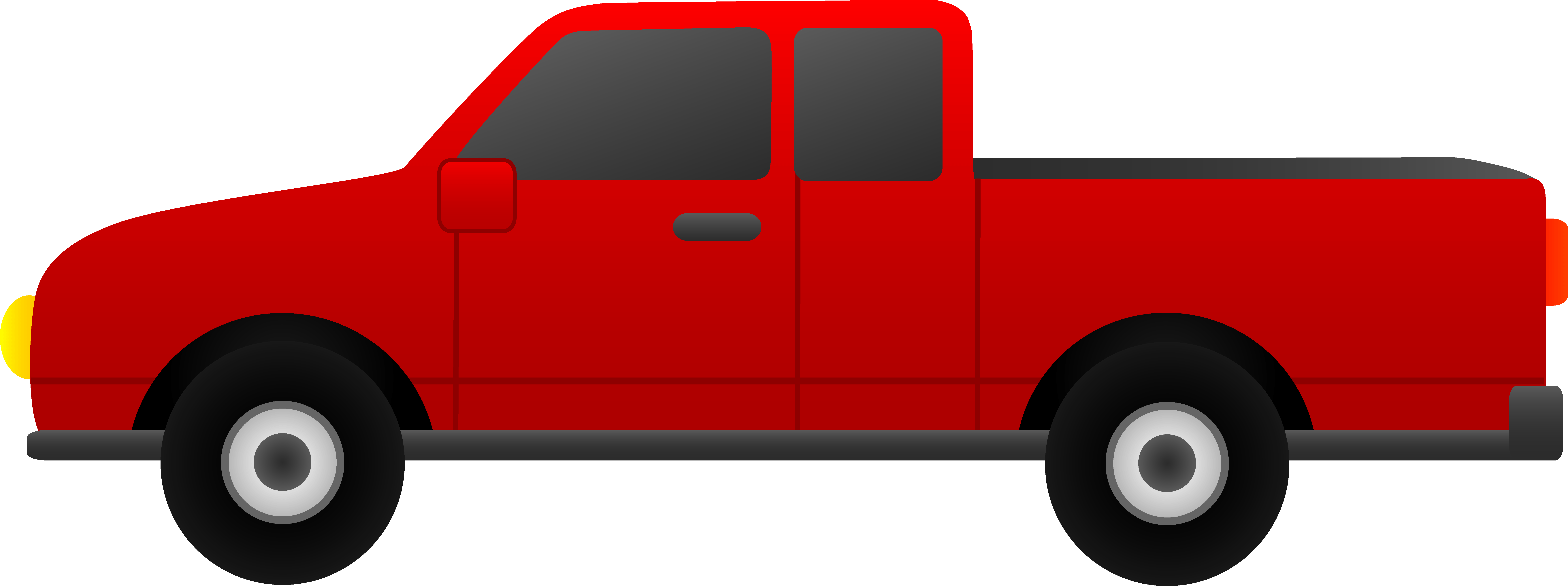 Red truck. Cliparts zone