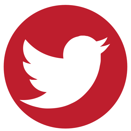 Red twitter logo png. Media rs social icon