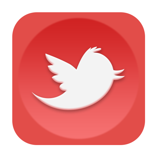 Red twitter png. Old icon social media