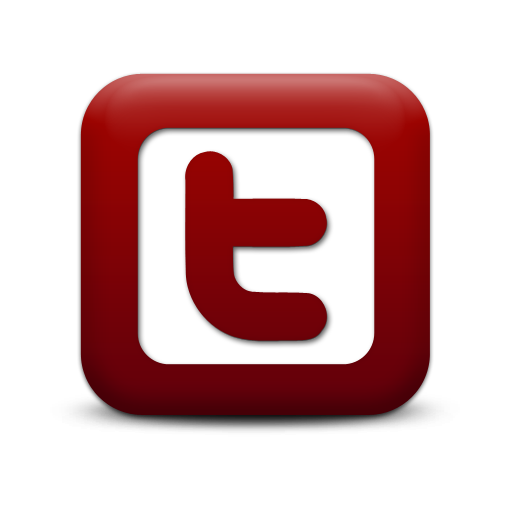 Red twitter logo png. Simple square icon