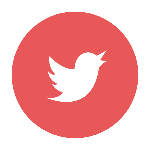 Red twitter png. Social tweet circular media