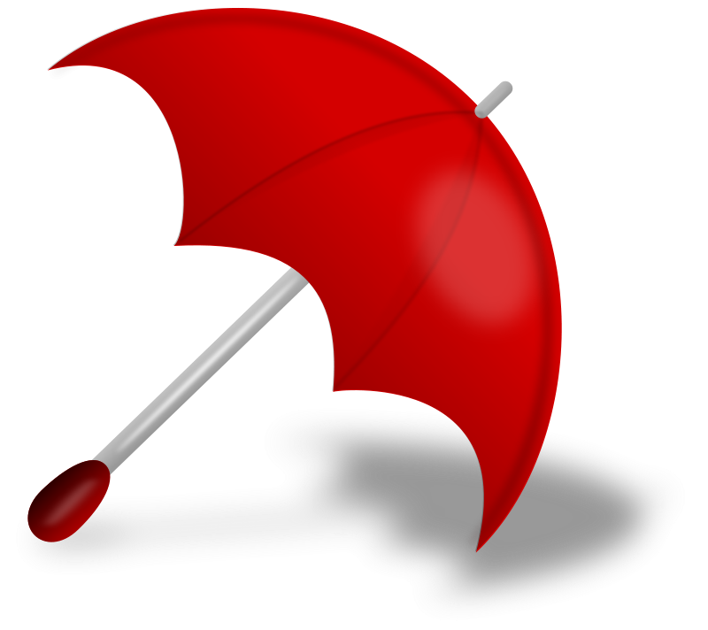 Red umbrella png. Download free image with