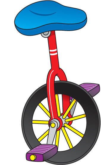 Red unicycle. Free cliparts download clip