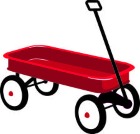 Red wagon. Clipart station
