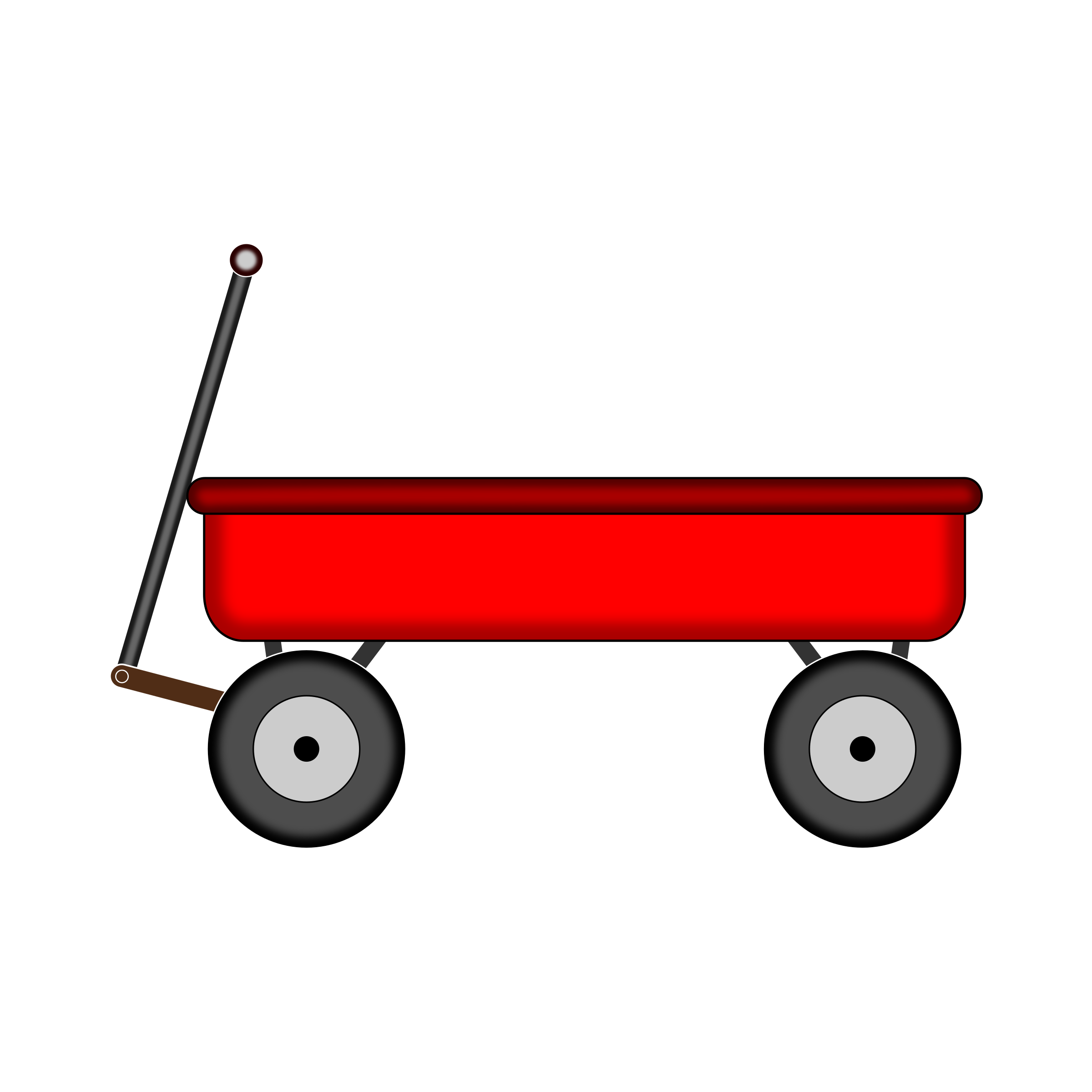 Red wagon. Vector clipart image free