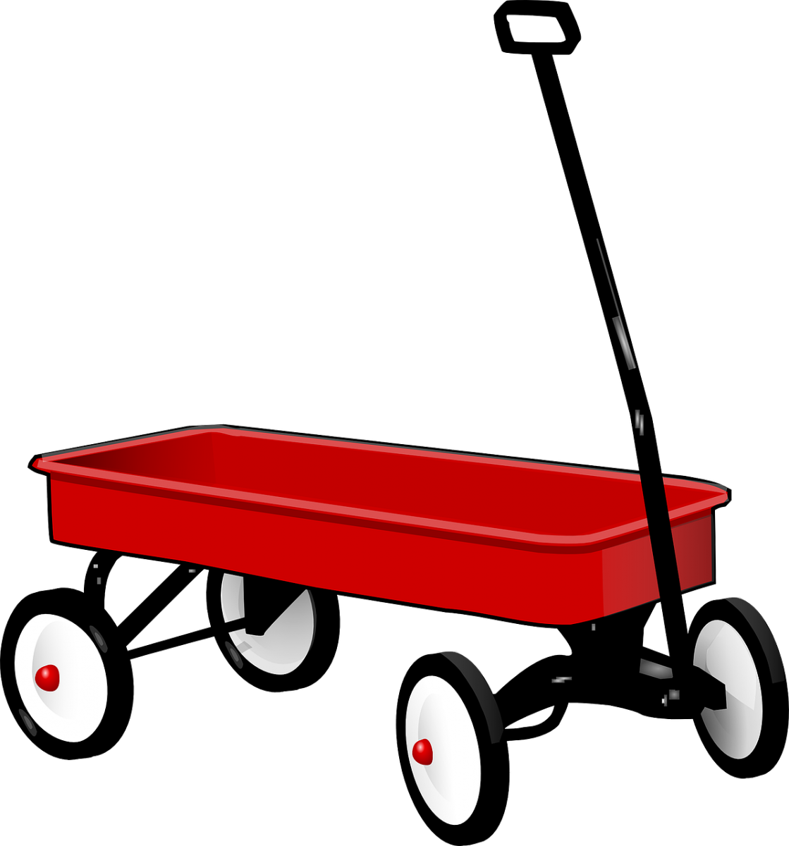Red wagon png. The little theory of