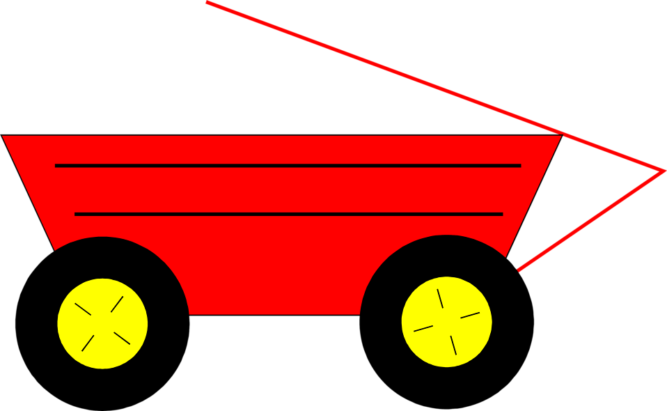 Red wagon png. Free stock photo illustration