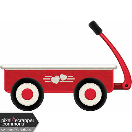 Red wagon png. Graphic by elizabeth minkus