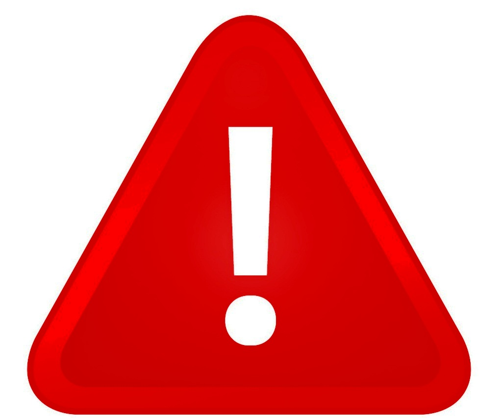 Red warning. Sign clipart best