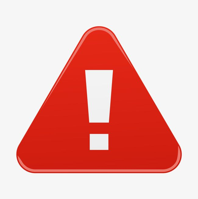 Red warning. Sign signal in signs