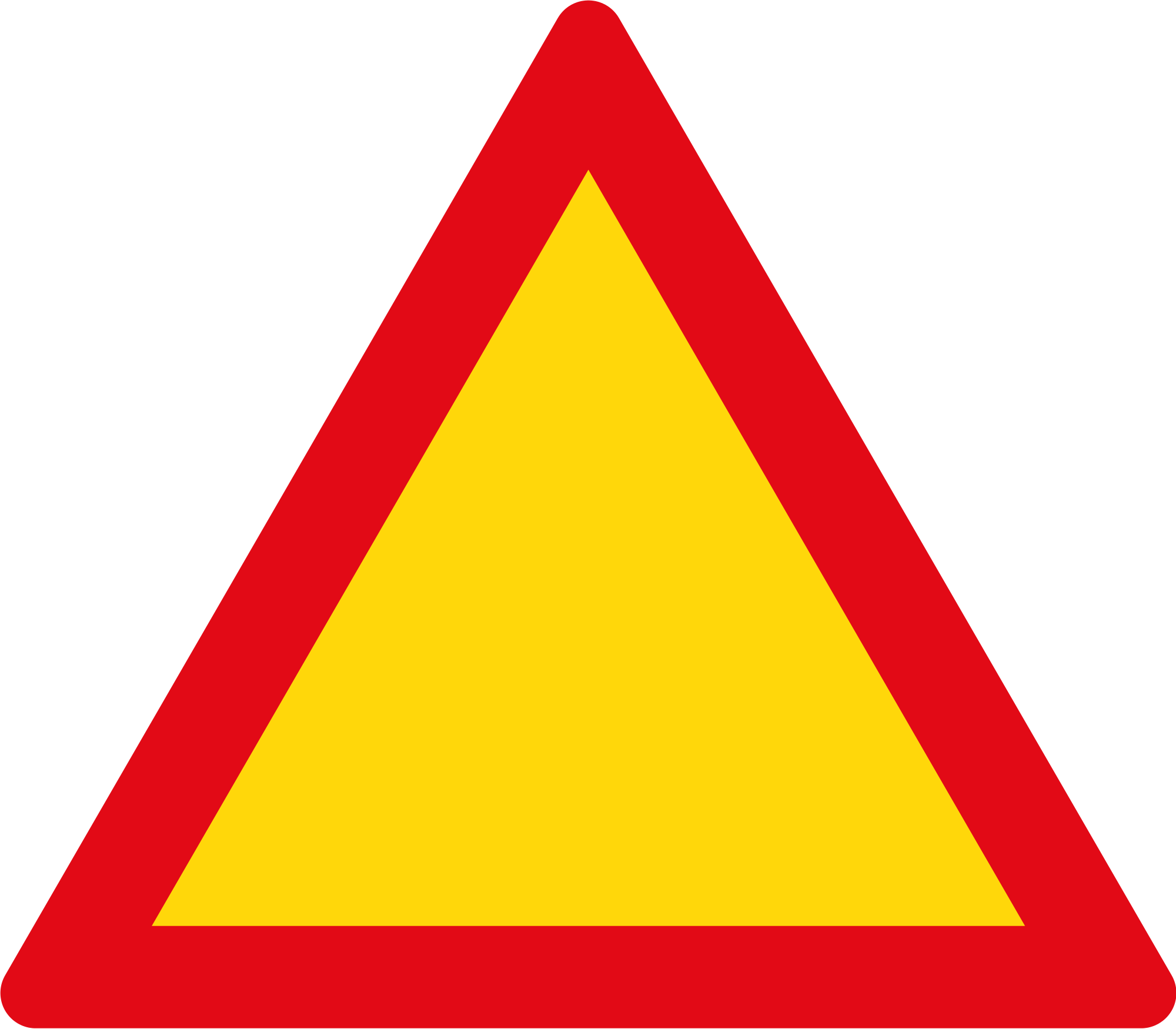 Red warning sign png. File triangle and yellow