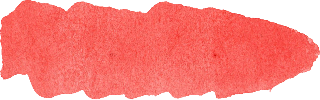 Red watercolor png. Brush stroke banner