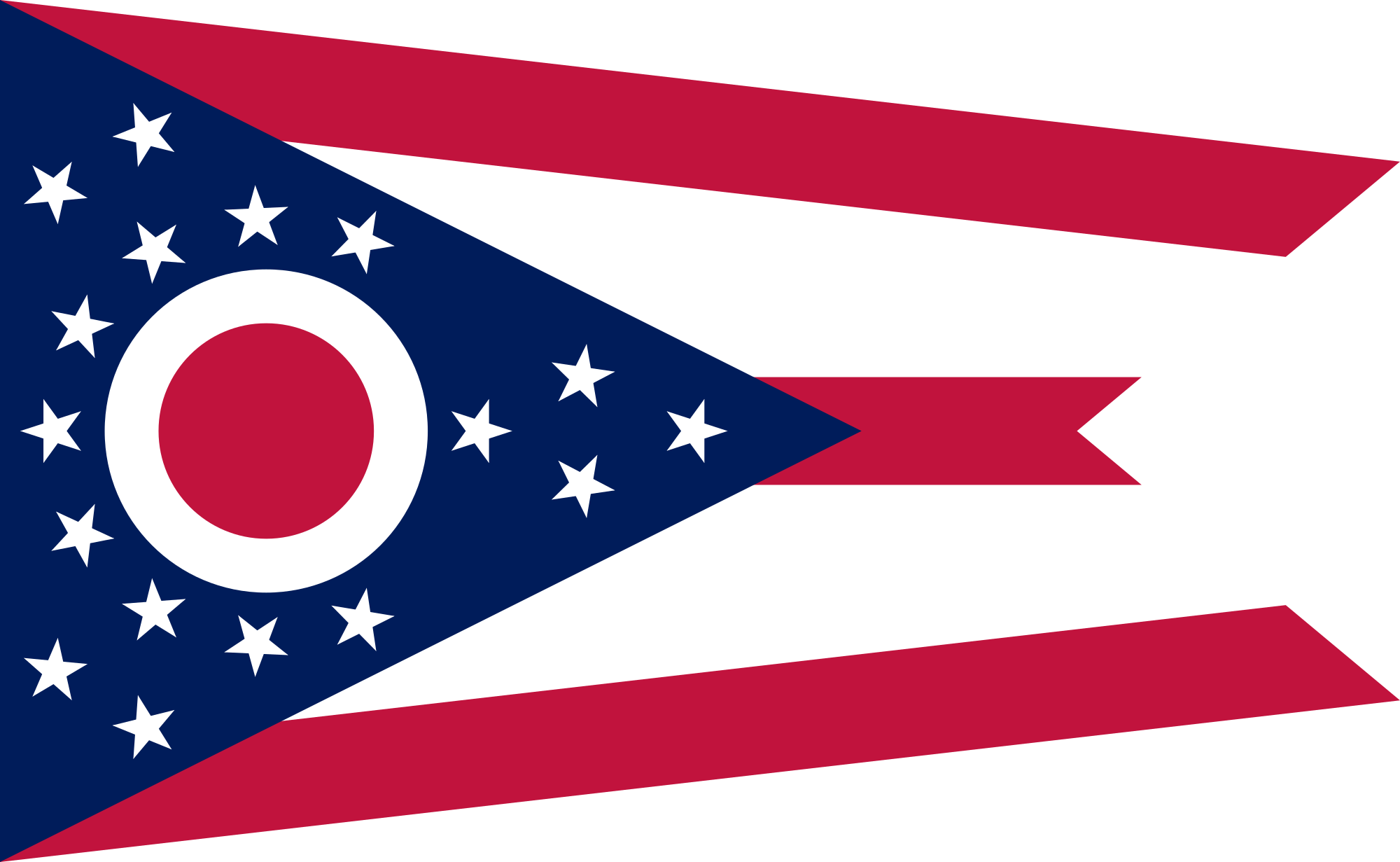 Red white and blue banner png. Flag of ohio wikipedia