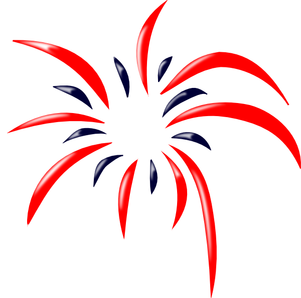 Red white and blue fireworks png. Firework clip art at