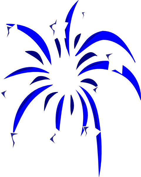 Fireworks clip animated. Blue with white stars