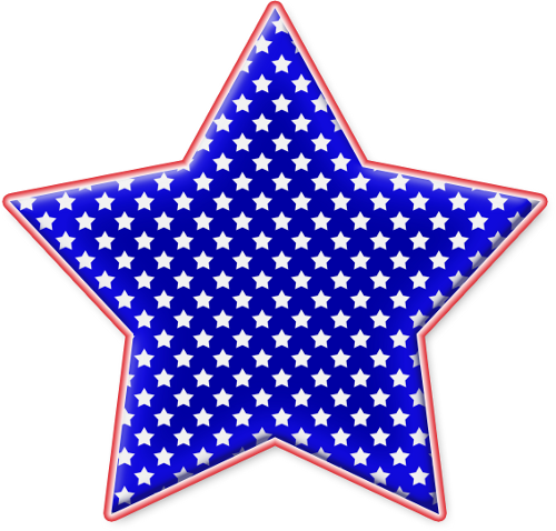 Red white and blue png. Star clipart by clipartcotttage