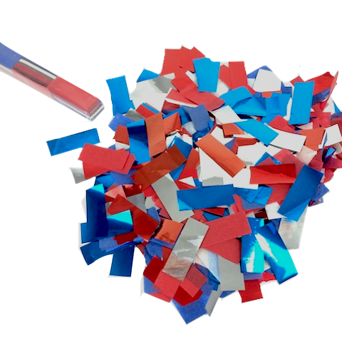 Red white and blue png. Confetti flashy metallic tissue