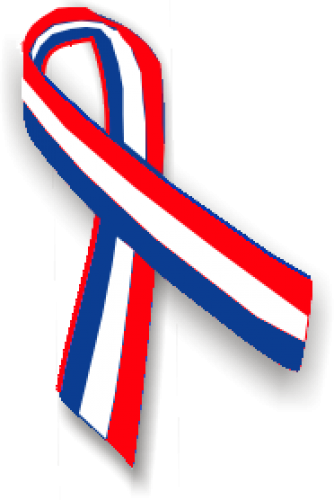 Red white and blue png. Ribbon