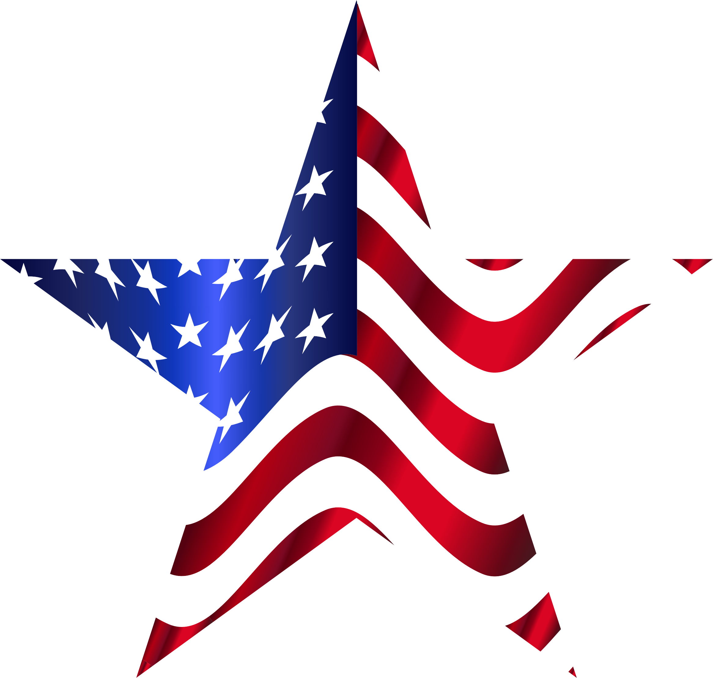 Red white and blue stars png. United states of america