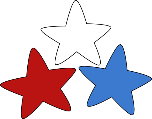 Red white and blue stars png. Collection of clipart