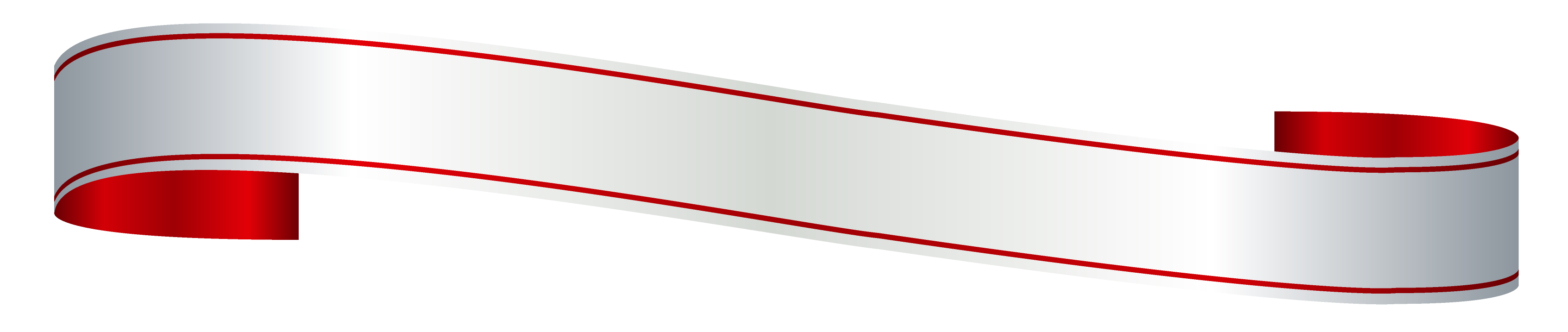 White and Red Banner PNG Clipart Picture