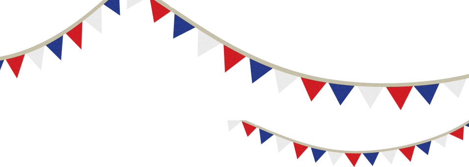 Red white blue png. Bunting independence day flag