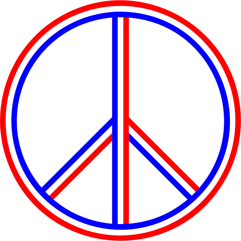 Red white blue png. Download free peace sign