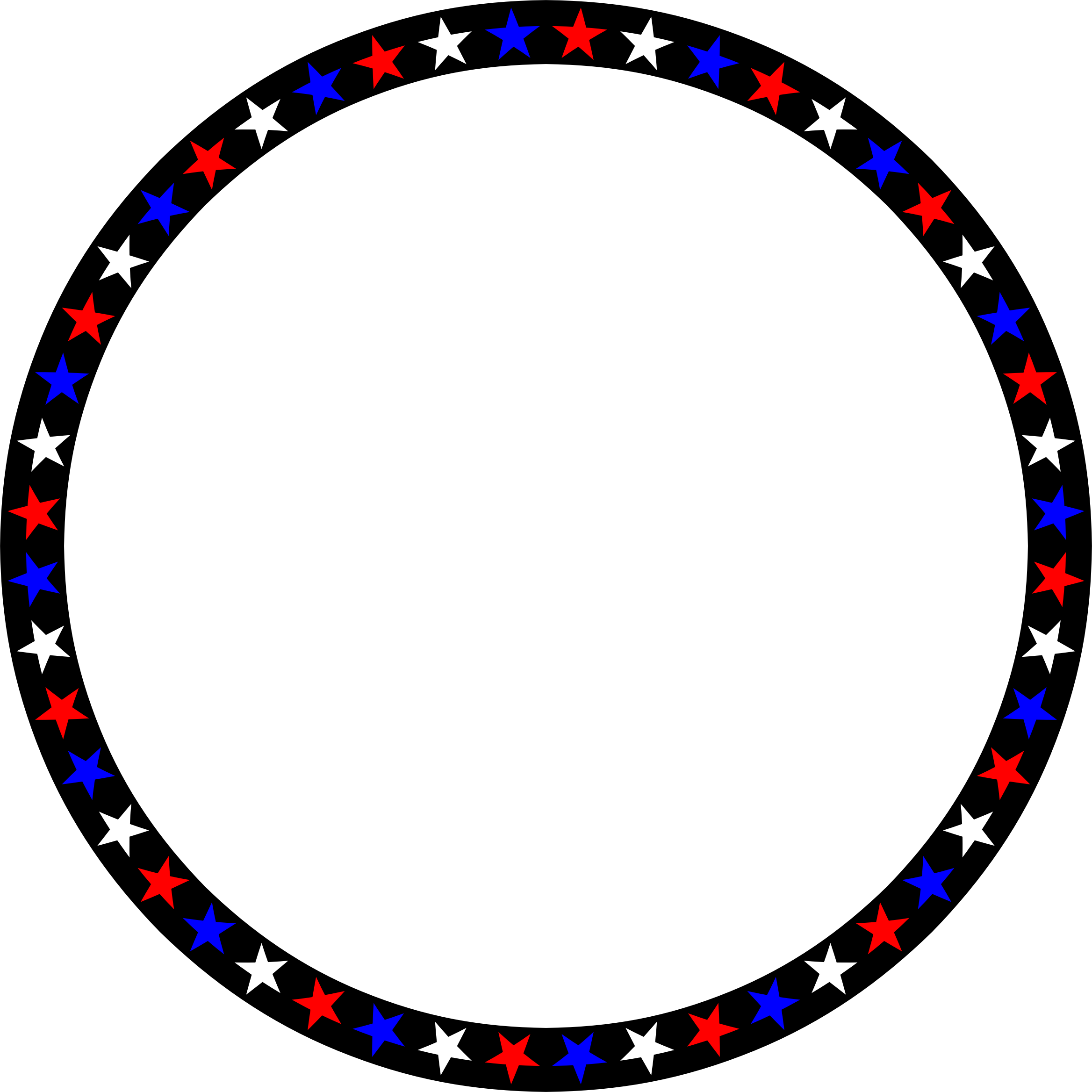 Red white blue icons. Stars circle png png free