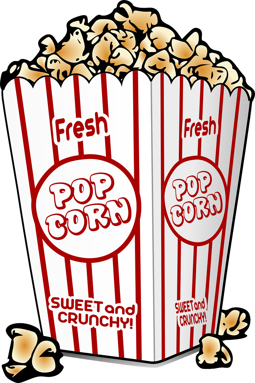 Red white popcorn boxes party invite clipart png. The way and business