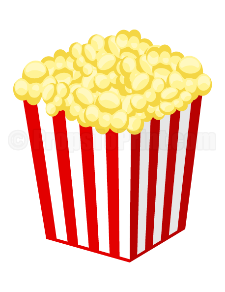 Red white popcorn boxes party invite clipart png. Printable photo booth prop