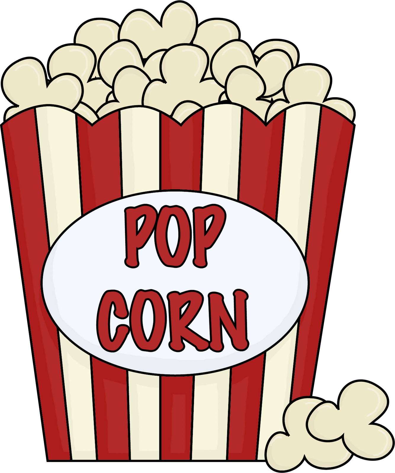 Red white popcorn boxes party invite clipart png. Clip art to glue