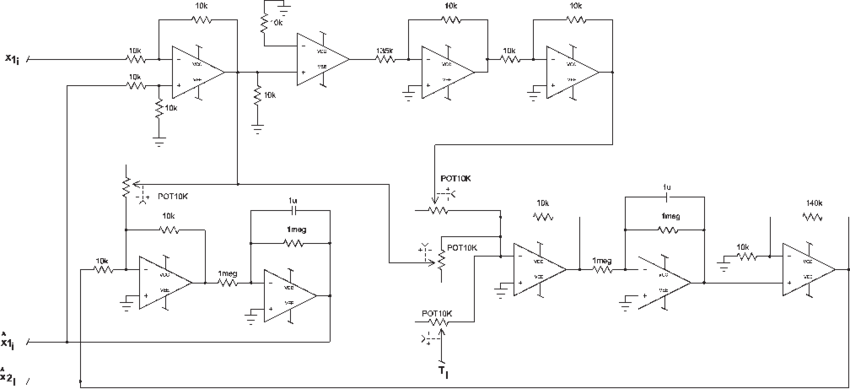 Electronic circuit of the observer