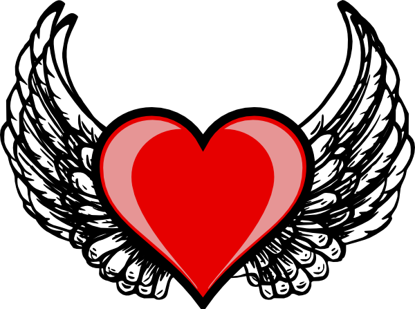 Red wing logo png. Heart clip art at