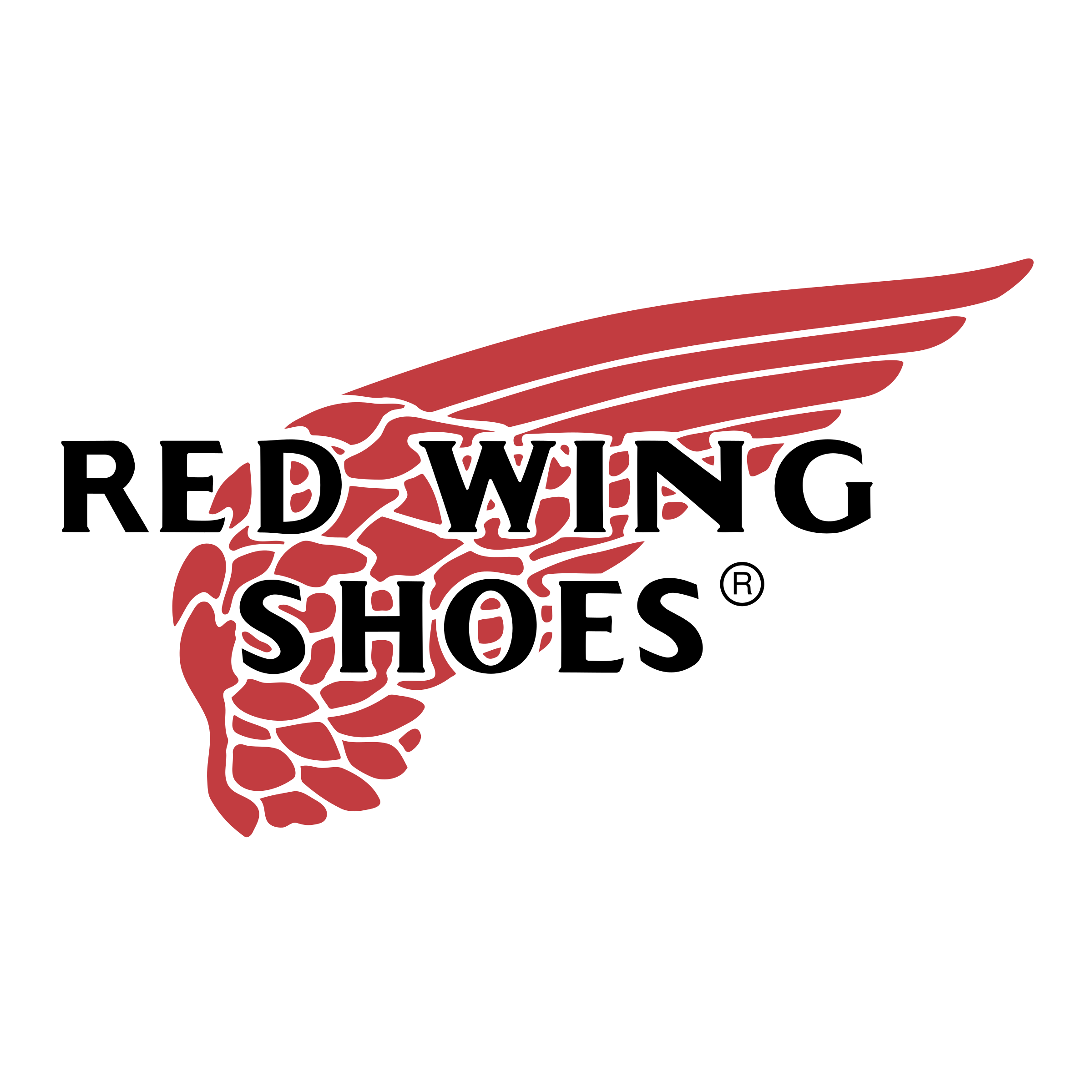 Red wing shoes logo png. Transparent svg vector freebie