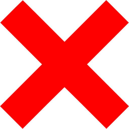 Image x png. Red mark icon free