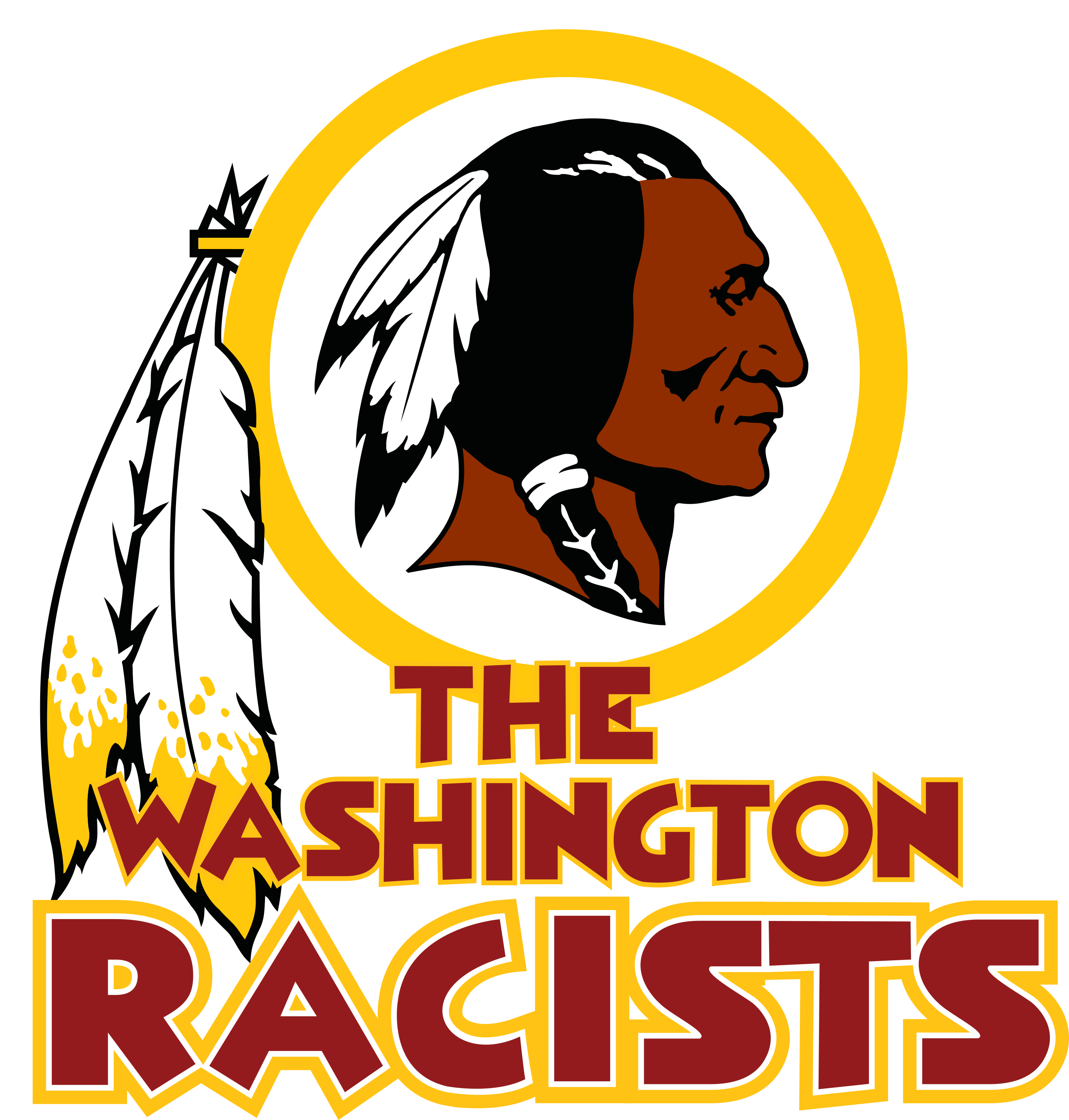Download hd silhouette washington. Redskins svg vector free library