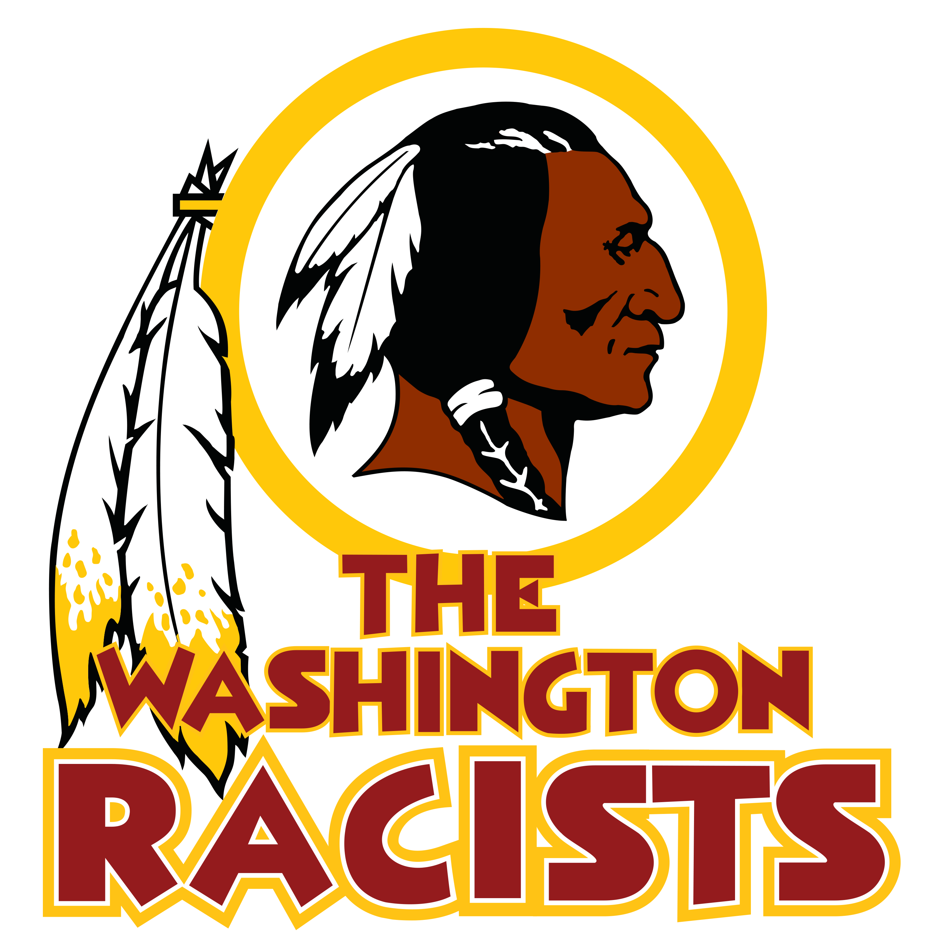 collection of washington. Redskins svg silhouette banner transparent library