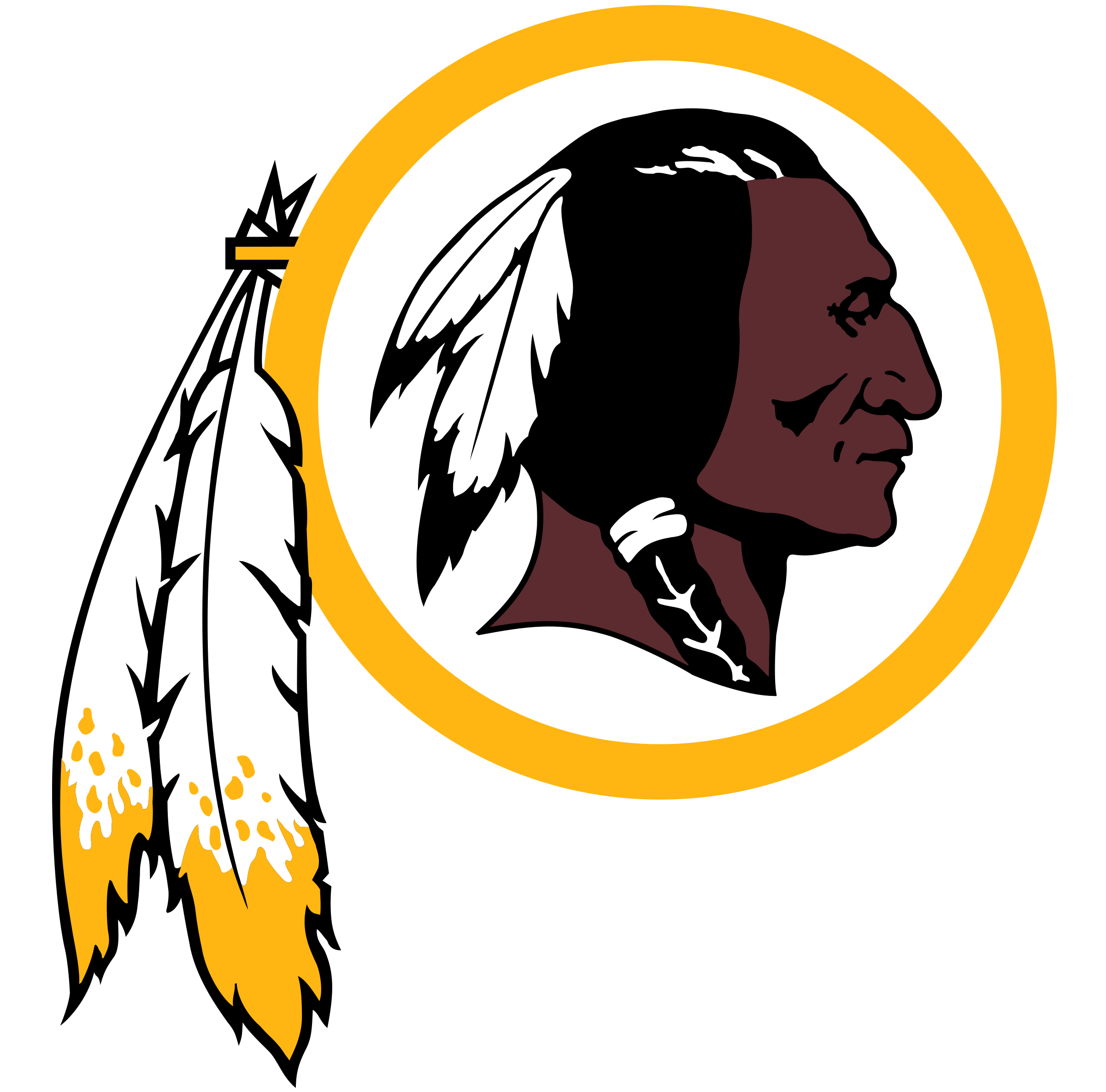 Redskins logo png. Washington transparent svg vector