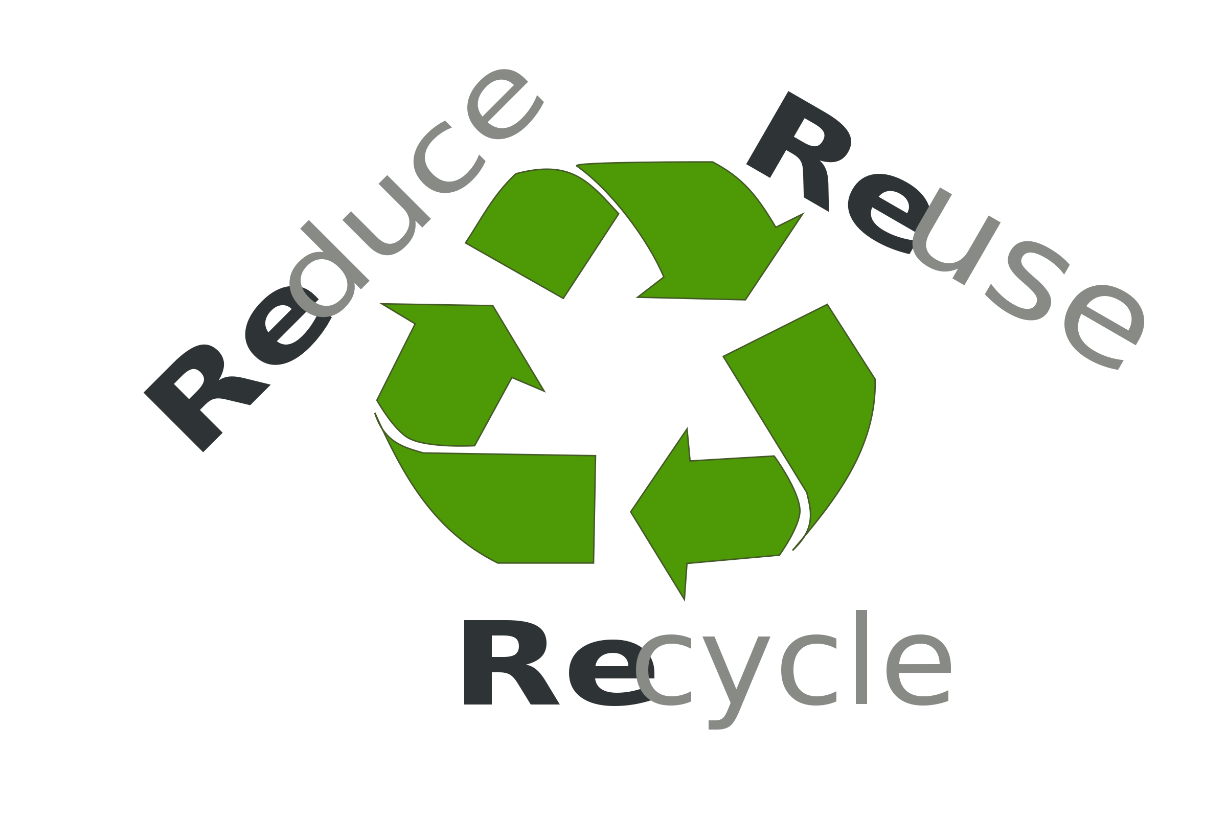 Reduce reuse recycle png. Make every day earth