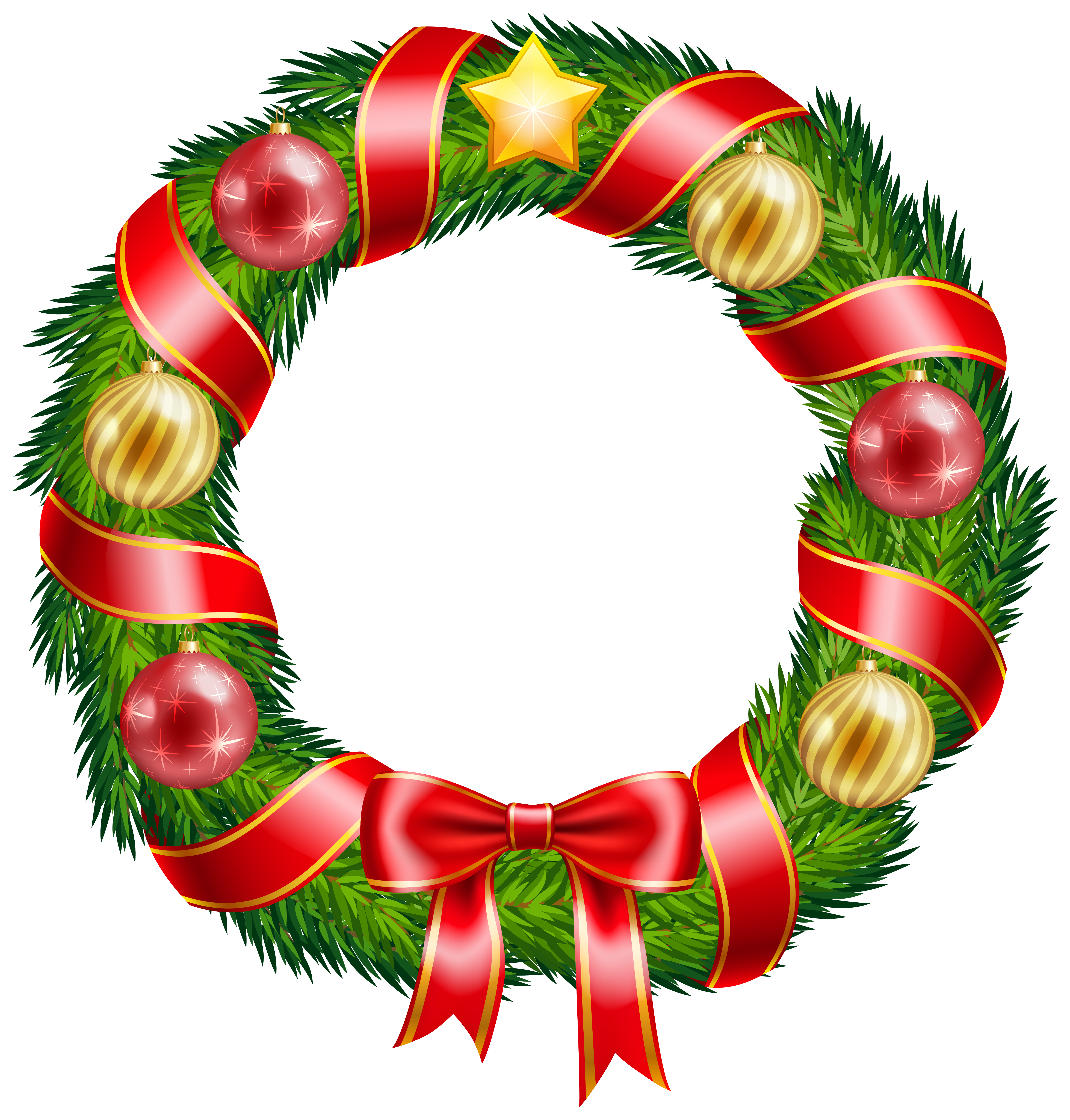 Christmas Garland Clipart.Garland Merry Christmas Transparent Png Clipart Free