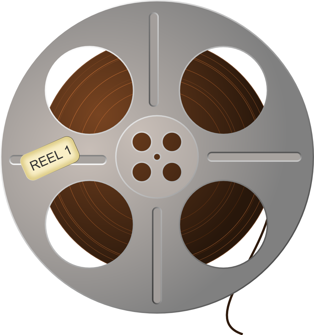 Reel clipart christmas movie. Film panda free images