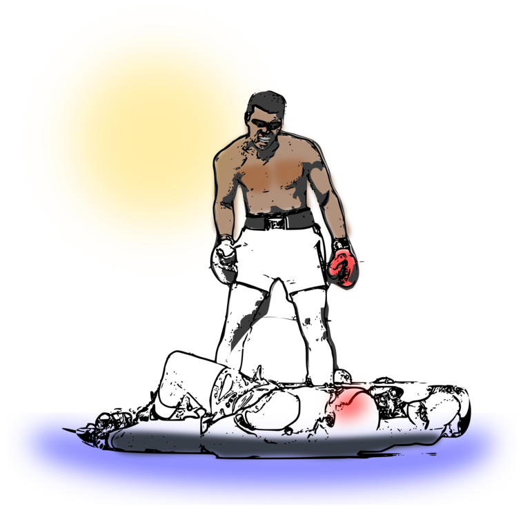 Referee clipart boxing referee. Knockout punch sports computer