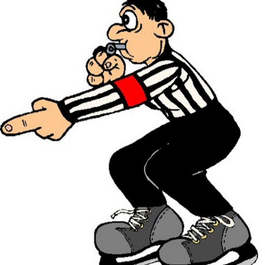 Referee clipart ref. Broomball youtube