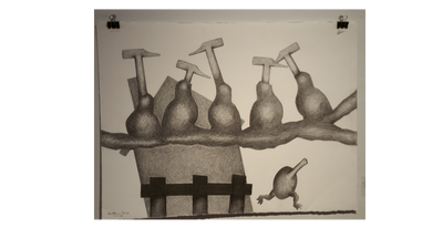 Reflective drawing still life. Critiques by mickey page