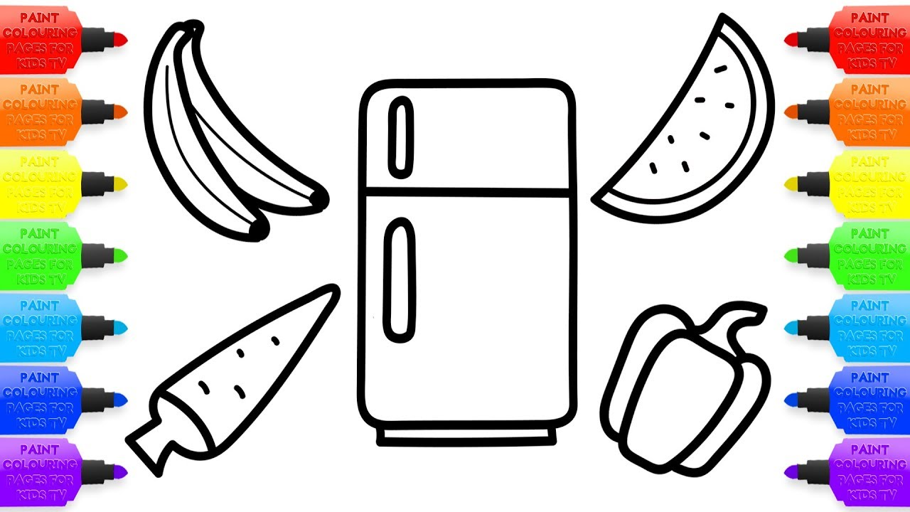 Refrigerator clipart coloring page. Drawing at getdrawings com
