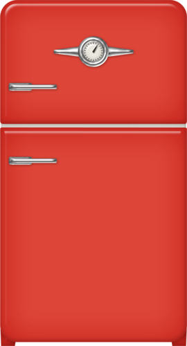 refrigerator clipart red