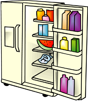 Refrigerator clipart. Cleaning