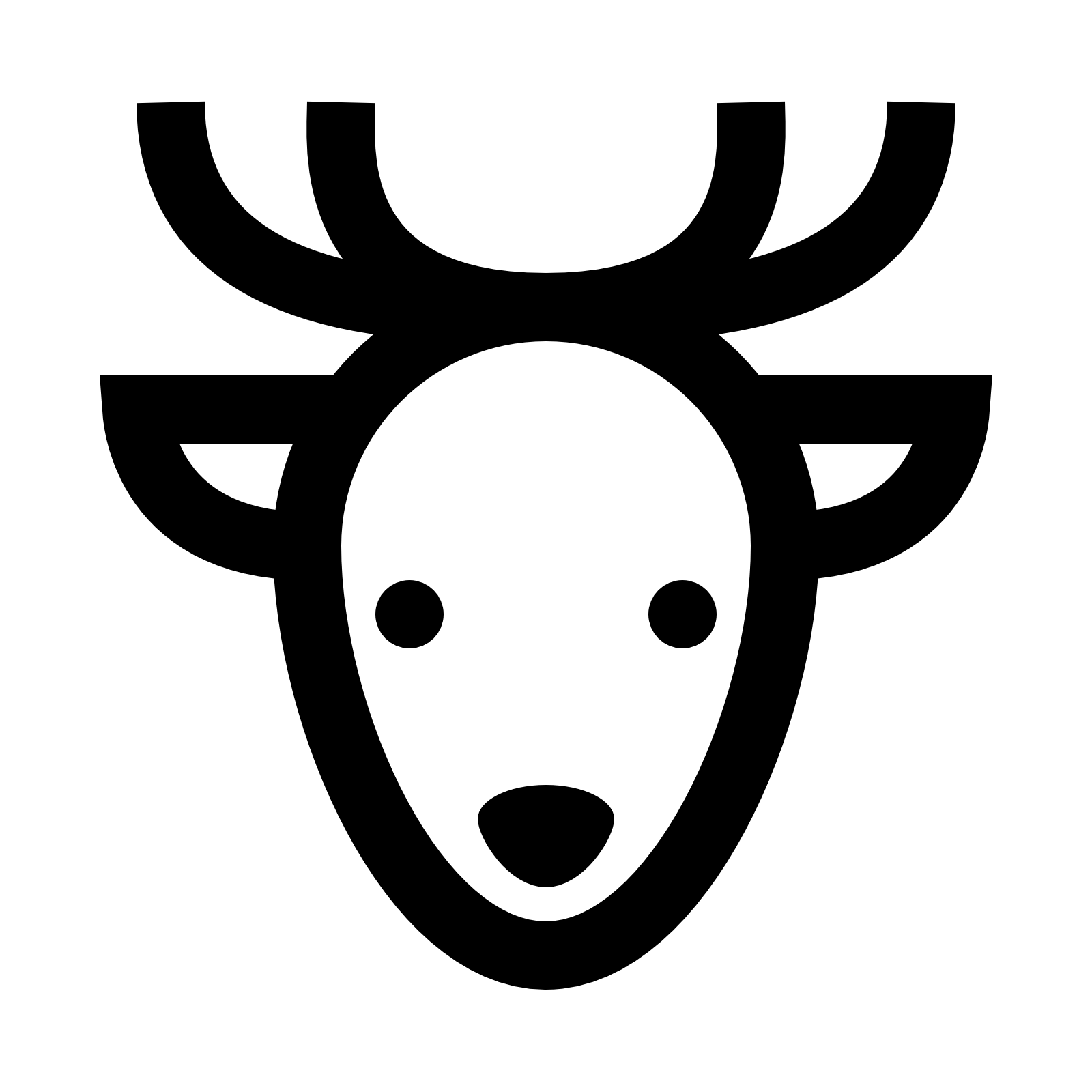 Reindeer black antlers png picture. Transparent free icons and