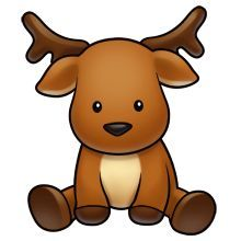 Rudolph clipart adorable. Baby reindeer at getdrawings